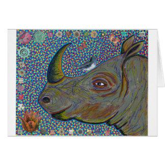Carte de voeux de rhinocéros