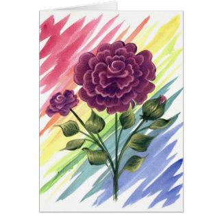 Carte de voeux de rose de magenta