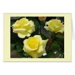 Carte de voeux de rose jaune