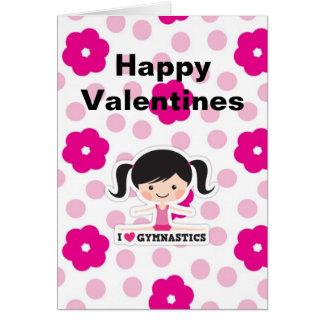 Carte de voeux de Saint-Valentin de gymnastique