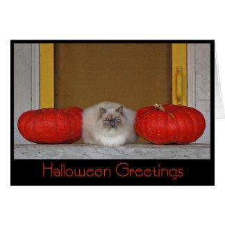 """Carte de voeux """"de salutations de Halloween"""""""
