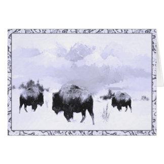 Carte de voeux de scène d'hiver de Buffalo
