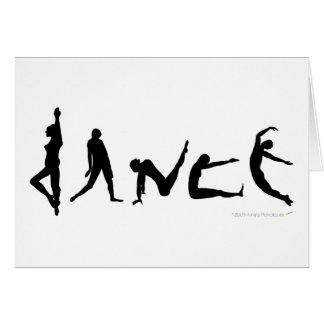 Carte de voeux de silhouette de danse de danse