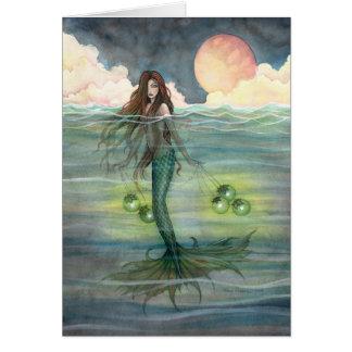"Carte de voeux de sirène ""de mer lumineuse"""