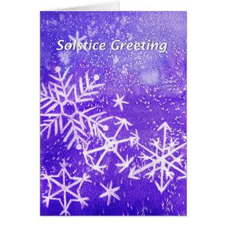Carte de voeux de solstice
