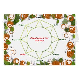 Carte de voeux de solstice d'été