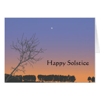 Carte de voeux de solstice d'hiver