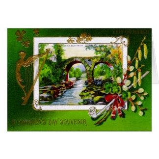 Carte de voeux de souvenir du jour de St Patrick