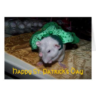Carte de voeux de St Pat de rubis de rat d'animal