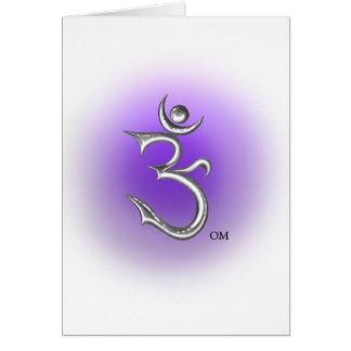 Carte de voeux de symbole d'ohm
