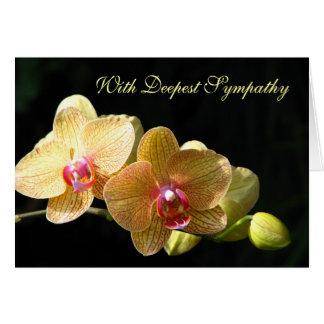Carte de voeux de sympathie d'orchidée