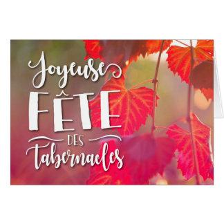 Carte de voeux de tabernacles de DES de fête de