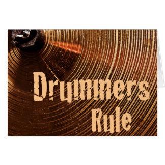 Carte de voeux de tambour ou de batteur ou carte