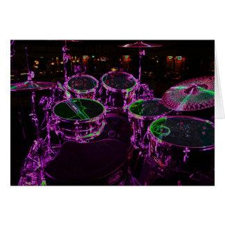 Carte de voeux de tambours