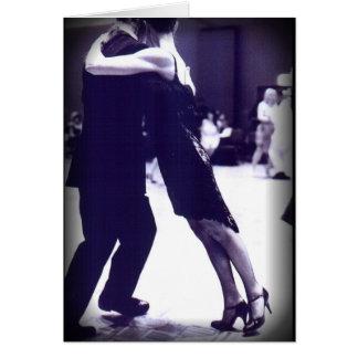 Carte de voeux de tango