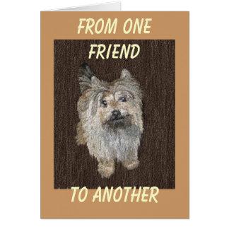 Carte de voeux de Terrier de cairn