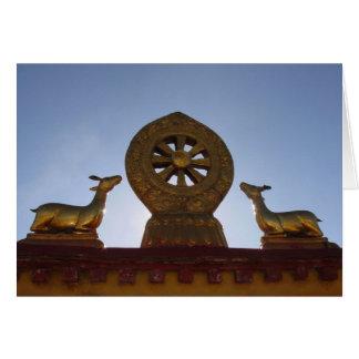 Carte de voeux de toit de temple de Jokhang