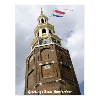 Carte de voeux de tour d'Amsterdam Carte Postale
