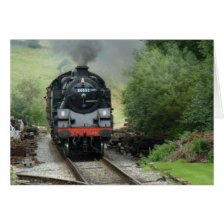 Carte de voeux de train de vapeur/carte de note