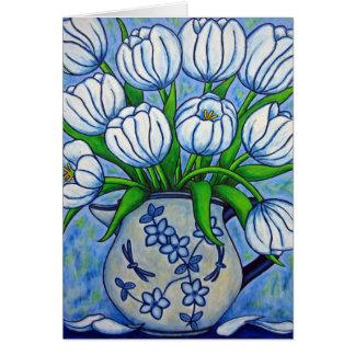 Carte de voeux de tranquilité de tulipe