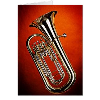 Carte de voeux de tuba pour des musiciens de bande