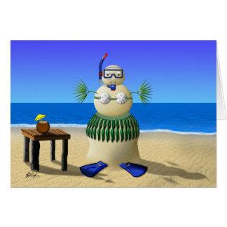 Carte de voeux de vacances de bébé de sable