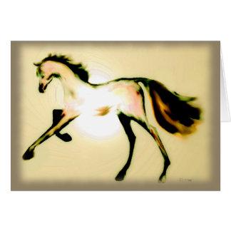 """Carte de voeux de vacances de ~ """"de cheval en"""