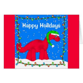 Carte de voeux de vacances de Dino