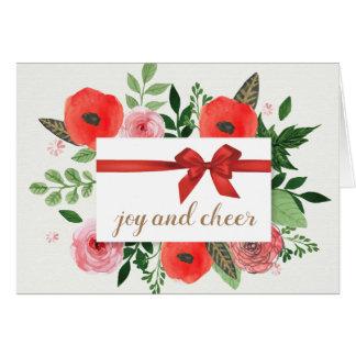 Carte de voeux de vacances de joie et