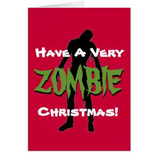 Carte de voeux de vacances de Noël de ZOMBI