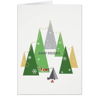 Carte de voeux de vacances de Père Noël | de