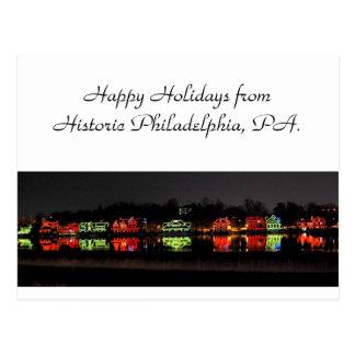 Carte de voeux de vacances de Philadelphie