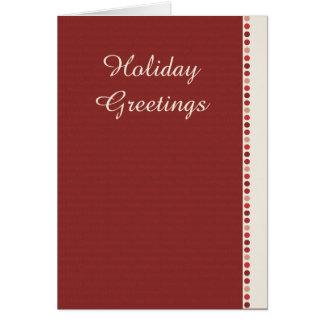 Carte de voeux de vacances - rouge chaud