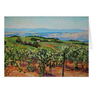 Carte de voeux de vignoble