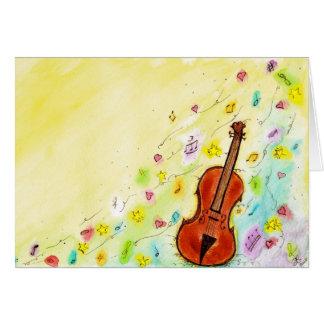 Carte de voeux de violon
