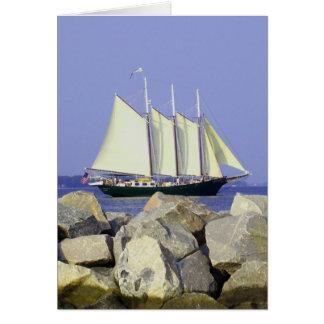 Carte de voeux de voilier de Jamestown