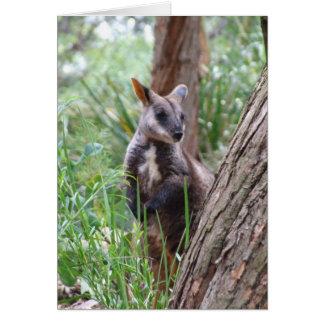 Carte de voeux de wallaby de roche