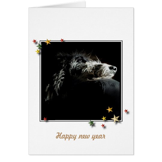 Carte de vœux Deerhound