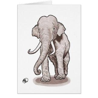 """Carte de voeux d'éléphant de """"liberté"""""""