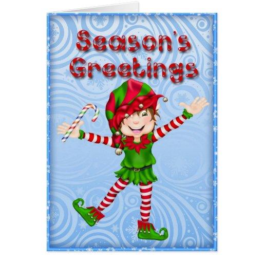 Carte de voeux d'Elf de Bonnes Fêtes