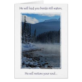 carte de voeux d'encouragment, psaumes 23