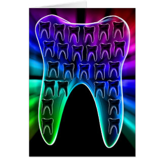 Carte de voeux dentaire colorée d'art de dent