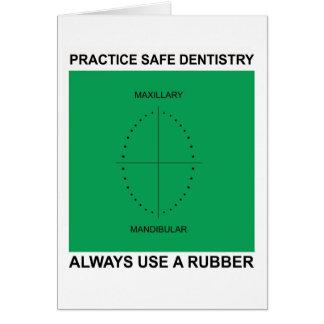 Carte de voeux dentaire pour des dentistes
