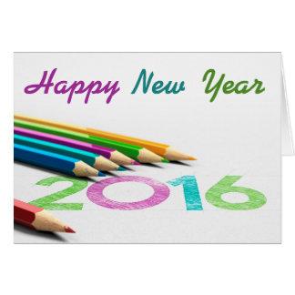 Carte de voeux dessin - nouvel an 2016