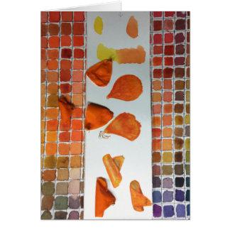 Carte de voeux d'étude de couleur