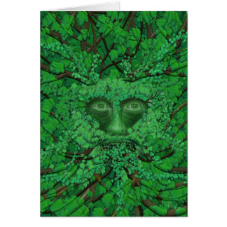 Carte de voeux d'homme vert