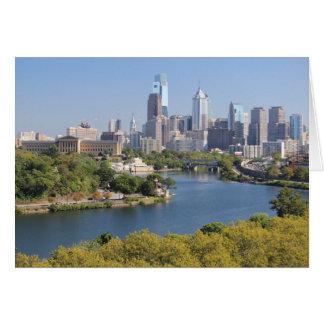 Carte de voeux d'horizon de Philadelphie