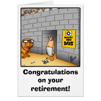Carte de voeux d'humour de retraite