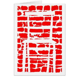 carte de voeux d'illusions optiques de