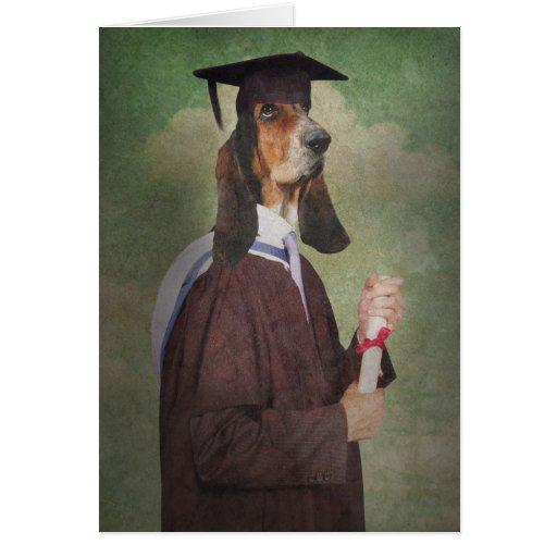 Carte de voeux d'obtention du diplôme